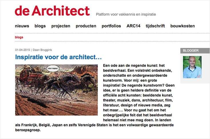Architect en beeldverhaal