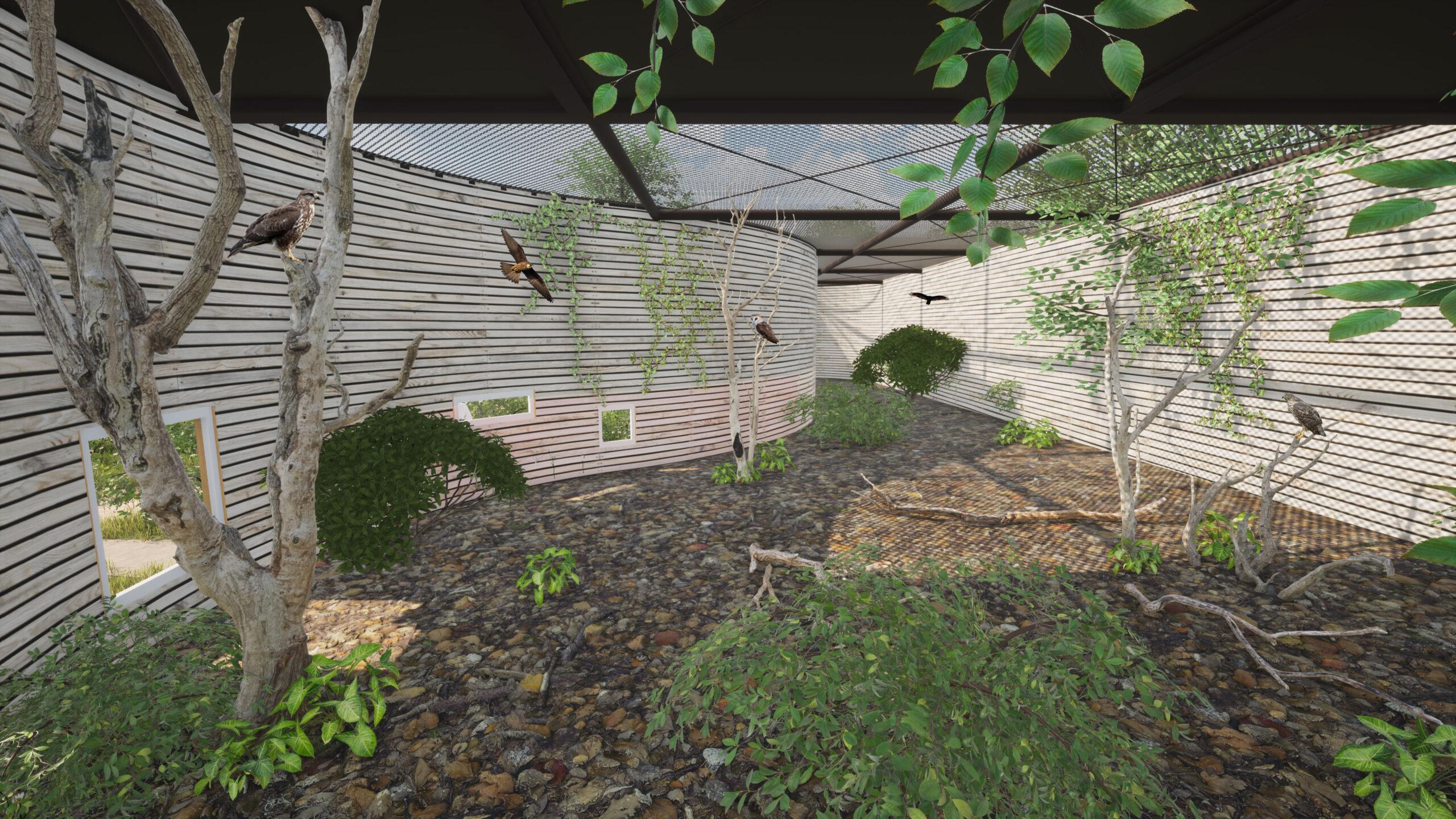 Orga Architect Bouw Avolare 018 Roofvogelverblijf Binnen